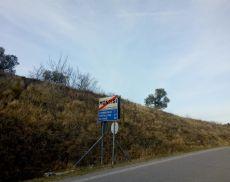 Il cartello che si trova a Montisi