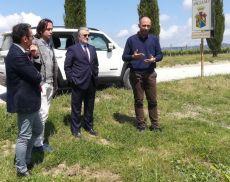 Il direttore generale di Confagricoltura Francesco Postorino in visita ad Argiano