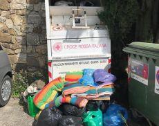 Il punto di raccolta della Croce Rossa a Montalcino