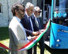 Inaugurati 8 nuovi bus Tiemme questa mattina a Sant'Antimo