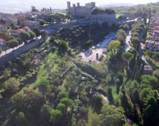 L'area dello Spuntone, dove verranno costruite le nuove scuole di Montalcino