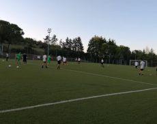La preparazione a Uopini (Siena) del Montalcino Calcio