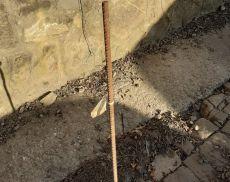 Il paletto a Porta Cerbaia senza protezione
