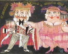 Re Brunello corteggia la Marchesa Larda di Colonnata (opera di Paolo Fresu)