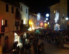 Foto d'archivio. Festa di Capodanno a Montalcino