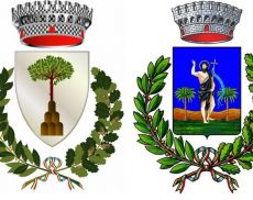 Gli stemmi di Montalcino e San Giovanni d'Asso