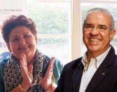 La ministra Teresa Bellanova e il presidente del Consorzio del Vino Brunello di Montalcino Fabrizio Bindocci