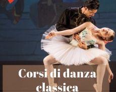La locandina dei corsi della scuola di danza di Montalcino
