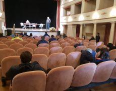 Giro d'Italia a Montalcino: c'è stato un incontro al Teatro degli Astrusi