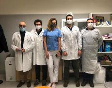 Lo staff medico: i dottor Domenico Iovane e Bernardino Mandarini, l'infermiera Joanna Rembarz ed i dottori Silvio Marzi ed Agostino Elia