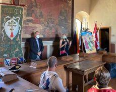 La presentazione dell'Opera di Letizia Machetti, che andrà al vincitore del Torneo di Apertura delle Cacce 2021