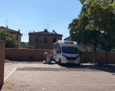 Lo scarico dei camper a Torrenieri