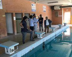 Il sopralluogo alla piscina di Buonconvento