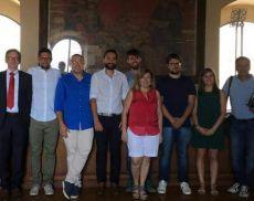 L'incontro in Comune tra le amministrazioni di Montalcino e Scanzorosciate e i Consorzi del Brunello e del Moscato di Scanzo