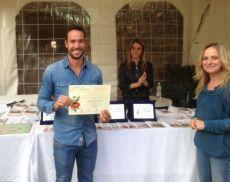 Dario Ciacci (Villa i Cipressi), premiato per aver prodotto il miglior miele di castagno