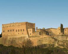 Una veduta di San Giovanni d'Asso, dal 1 gennaio 2017 annesso al Comune di Montalcino
