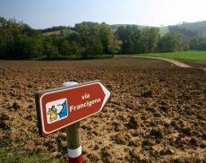Una veduta della Via Francigena