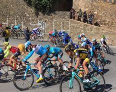 Il passaggio per Montalcino della Tirreno-Adriatico 2018