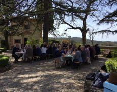 Tenute Silvio Nardi, il buffet ha chiuso il mini convegno su Montalcino e l'Etruria