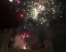 Lo spettacolo dei fuochi d'artificio