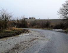 La situazione di una strada a Torrenieri