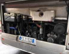 I Vigili del Fuoco hanno accertato che si trattava della rottura della cinghia della pompa di raffreddamento