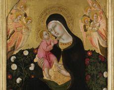 La Madonna dell'Umiltà di Sano di Pietro, custodita presso la raccolta medioevale e moderna del Museo di Montalcino
