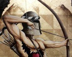 La tela realizzata da Tommaso Andreini