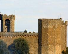 Uno scorcio della Fortezza di Montalcino