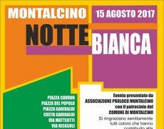 Il manifesto della Notte Bianca a Montalcino