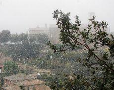 E'arrivata la prima neve a Montalcino