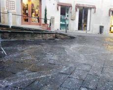 Piazza del Popolo ripulita dal Comune