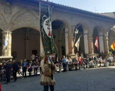 Un momento del sorteggio in Piazza del Popolo