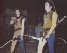 Uno scatto del Torneo di Apertura delle Cacce in notturna, nel 1979