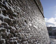 Montalcino Mura della Fortezza innevate