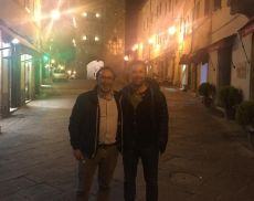 Luca Corbucci, nuovo allenatore del Montalcino, assieme al presidente Losappio