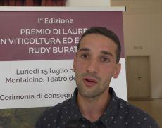 Stefano Delledonne ha vinto il 1° premio di laurea in Viticoltura ed Enologia dedicato a Rudy Buratti