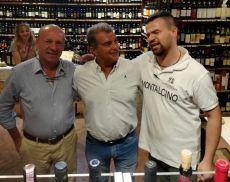 Joan Laporta, ex numero 1 del Barcellona, assieme a Fabio Tassi e Gege Berisha