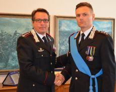 Il capitano dei Carabinieri di Montalcino Alessandro Sebis con il collonnello Stefano Di Pace