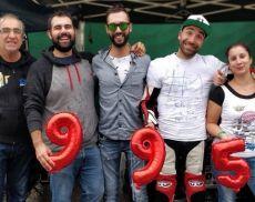 Matteo Lardori festeggia con i suoi amici il titolo italiano categoria quad
