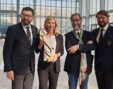 "Cristina Mariani-May (Banfi) ha ricevuto a Roma il prestigioso ""Tastevin"""