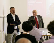 Rodolfo Maralli e Attilio Scienza, rispettivamente presidente della Fondazione Banfi e presidente di Sanguis Jovis