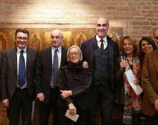 Donatella Cinelli Colombini con gli altri protagonisti del convegno di Wine&Siena