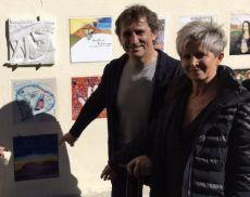 Alex Zanardi e la sua formella di Benvenuto Brunello 2019