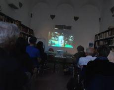 Un momento della cerimonia di consegna del premio Città di Montalcino ad Adriano Prosperi
