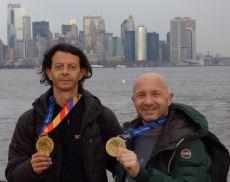 Raniero Pierangioli e Claudio Giannetti all'edizione 2017 della maratona di New York