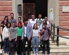 Foto di gruppo della classe quinta 2017/2018 del Liceo Linguistico Lambruschini di Montalcino