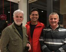 Annibale Parisi, Bruno Dalmazio (al centro) e Marco Parri