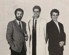 Annibale Parisi, Bruno Dalmazio (al centro) e Marco Parri in una foto del 1988
