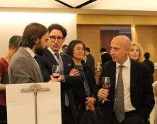 Il direttore del Consorzio Pondini e l'ambasciatore Starace